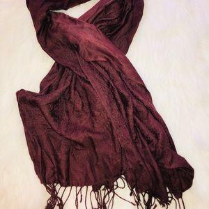 Pashmina cashmere & silk blend oversized scarf